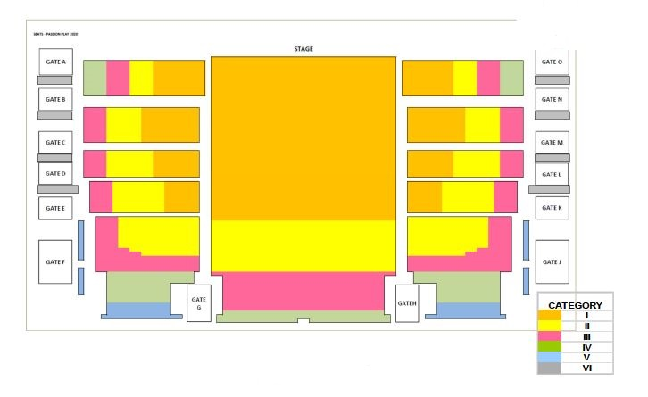 SEATING MAP PASSION PLAY 2022